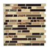 Smart Tiles 6-Pack Brown Linear Mosaic Composite Vinyl Wall Tile (Common: 10-in x 10-in; Actual: 10-in x 10.06-in)