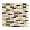 Smart Tiles 6-Pack Beige Linear Mosaic Composite Vinyl Wall Tile (Common: 10-in x 10-in; Actual: 9.1-in x 10.2-in)