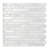 Smart Tiles 6-Pack White Subway Mosaic Composite Vinyl Wall Tile (Common: 10-in x 10-in; Actual: 10-in x 10.06-in)