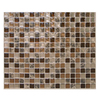 Smart Tiles 6-Pack Brown Uniform Squares Mosaic Composite Vinyl Wall Tile (Common: 10-in x 10-in; Actual: 9.64-in x 11.55-in)