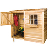 Cedarshed Bayside Lean-To Cedar Storage Shed (Common: 8-ft x 4-ft; Interior Dimensions: 7.75-ft x 3.45-ft)