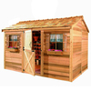 Cedarshed Cabana Gable Cedar Storage Shed (Common: 10-ft x 8-ft; Interior Dimensions: 9.62-ft x 7.33-ft)