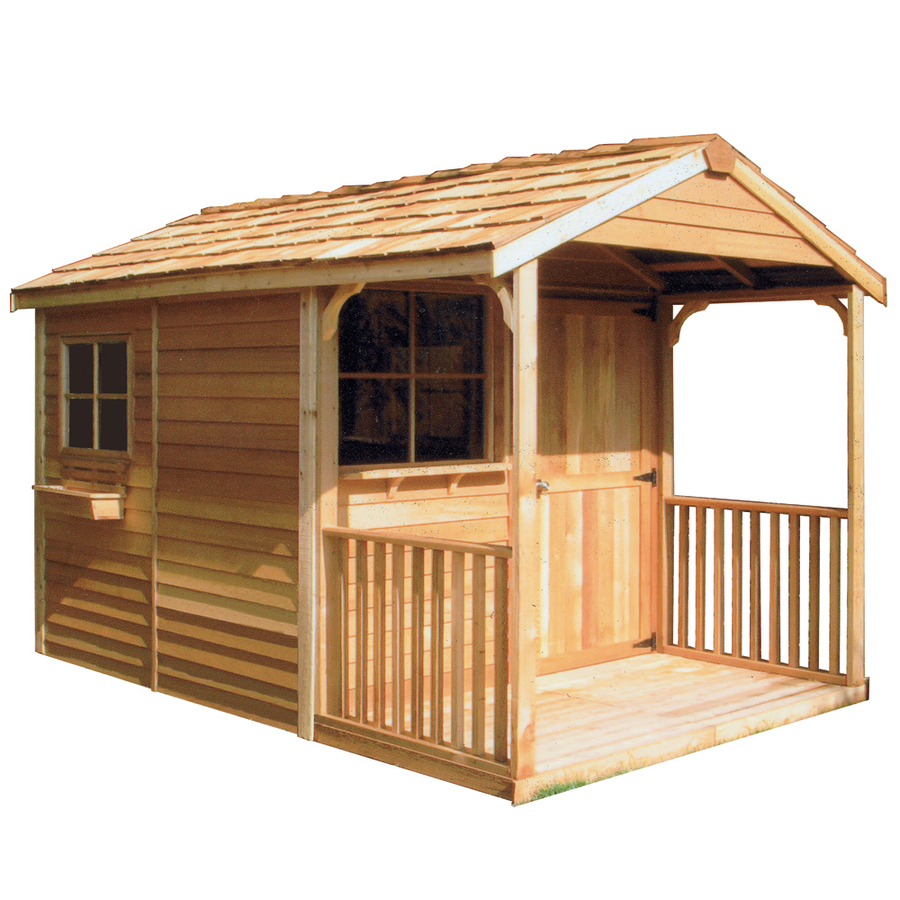 Shop Cedarshed Clubhouse Gable Cedar Wood Storage Shed Common 8 Ft X 16 Ft Interior