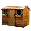 Cedarshed Cabana Gable Cedar Storage Shed (Common: 9-ft x 6-ft; Interior Dimensions: 8.62-ft x 5.33-ft)