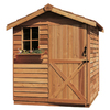 Cedarshed Gardener Gable Cedar Wood Storage Shed (Common: 6-ft x 6-ft; Interior Dimensions: 5.33-ft x 5.75-ft)