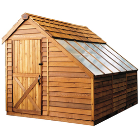 Cedarshed Sunhouse Lean-To Cedar Storage Shed (Common: 8-ft x 12-ft; Interior Dimensions: 7.33-ft x 11-ft)