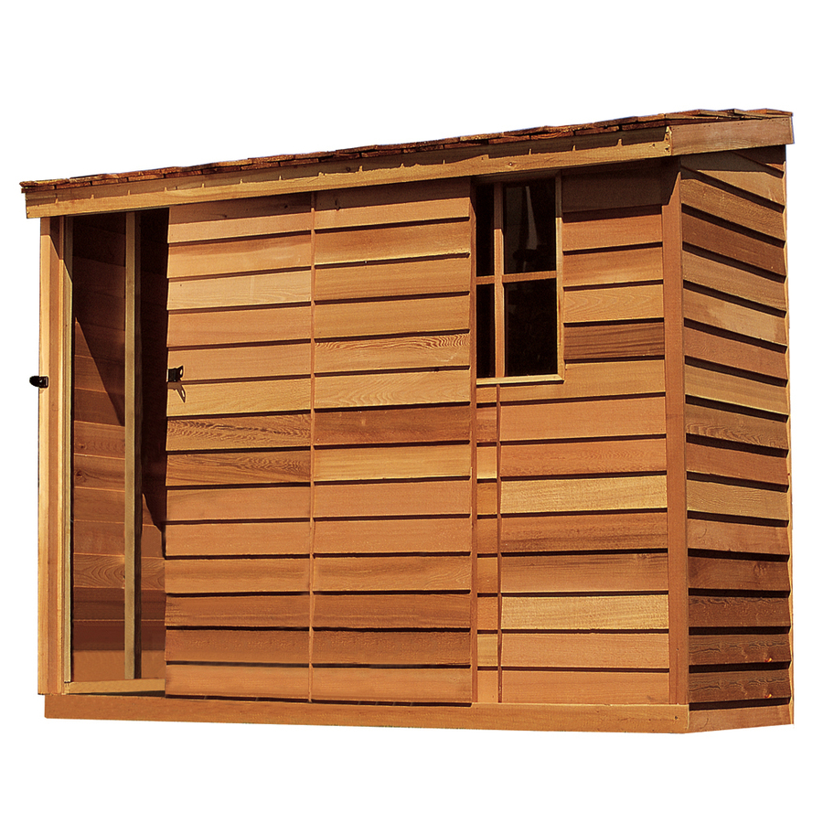 Shop cedarshed yardsaver lean to cedar wood storage shed for Lean to storage shed
