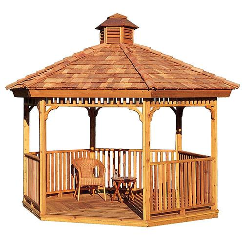 Backyard Gazebo Lowes : Wooden Gazebos from Lowes by Cedarshed & Heartland Gazebos Structures