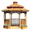 Cedarshed 10-1/16' x 10-13/16' x 11-5/16' Redwood Cedar Wood Gazebo