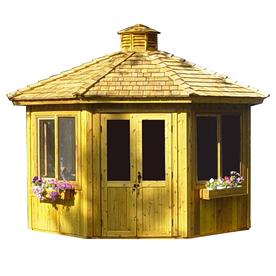 Shop cedarshed 13 ft 7 in x 15 ft x 12 ft cedar gazebo for Home hardware gazebo plans