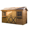Cedarshed Longhouse Gable Cedar Storage Shed (Common: 16-ft x 8-ft; Interior Dimensions: 15.5-ft x 7.33-ft)