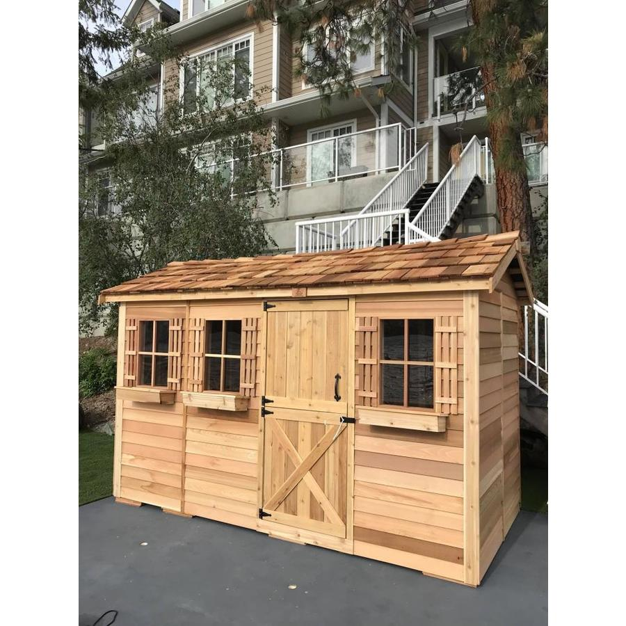 Shop cedarshed boathouse gable cedar wood storage shed for Outdoor wood shed