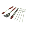 Barbecue Genius 7-Piece Tool Set with Silicone Grip