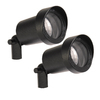 Portfolio 2-Pack 10-Watt Black Flood-Light