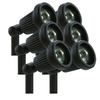 Portfolio 6-Pack 20-Watt Black Flood-Light