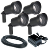 Portfolio 4-Light Black Low-Voltage Halogen Spotlight Kit