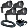 Portfolio 4-Light Black Low-Voltage Halogen Spotlight Kit