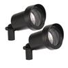 Portfolio Black Low Voltage 10-Watt (15W Equivalent) Halogen Spot Light