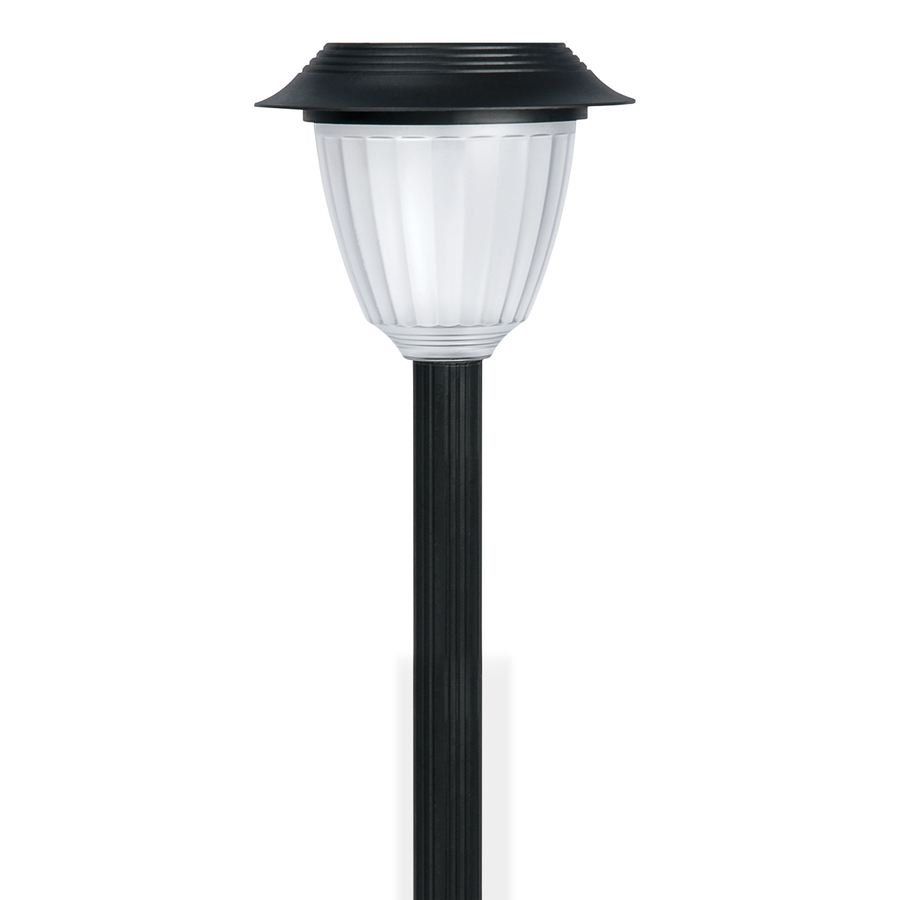 shop portfolio black solar powered led path light at. Black Bedroom Furniture Sets. Home Design Ideas