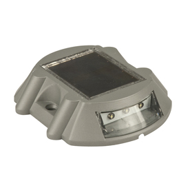 deck lights portfolio 2 pack grey solar powered led deck lights http. Black Bedroom Furniture Sets. Home Design Ideas