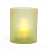 Inglow 2.36-in Assorted Indoor/Outdoor Battery-Operated LED Green Electric Tea Light Candle