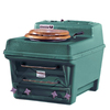 Santerra Green Dark Green 0.8-GPF (3.03-LPF) 4-in Rough-in Round Composting Comfort Height Rear Outlet Toilet