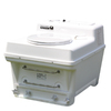 Santerra Green White 0.8-GPF (3.03-LPF) 4-in Rough-in Round Composting Comfort Height Rear Outlet Toilet