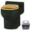 Santerra Green Charcoal Granite 0.8-GPF (3.03-LPF) 4-in Rough-in Round Composting Standard Height Toilet
