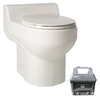 Santerra Green White 0.8 GPF High Efficiency Round 2-Piece Toilet