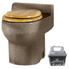 Santerra Green Sandstone Granite 0.8-GPF (3.03-LPF) 4-in Rough-in Round Composting Standard Height Toilet