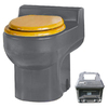 Santerra Green Grey 0.8-GPF (3.03-LPF) 4-in Rough-in Round Composting Standard Height Toilet