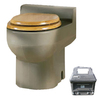 Santerra Green Sandalwood 0.8-GPF (3.03-LPF) 4-in Rough-in Round Composting Standard Height Toilet