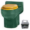 Santerra Green Dark Green 0.8 GPF High Efficiency Round 2-Piece Toilet