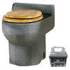 Santerra Green Grey Granite 0.8-GPF (3.03-LPF) 4-in Rough-in Round Composting Standard Height Toilet