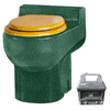 Santerra Green Green Granite 0.8-GPF (3.03-LPF) 4-in Rough-in Round Composting Standard Height Rear Outlet Toilet