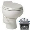Santerra Green White 0.8-GPF (3.03-LPF) 4-in Rough-in Round Composting Standard Height Toilet