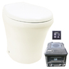 Santerra Green Santerra Green V Series Bone 0.8 GPF High Efficiency Round 2-Piece Toilet