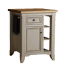 allen + roth 28-in L x 24-in W x 36-in H Glazed White Kitchen Island