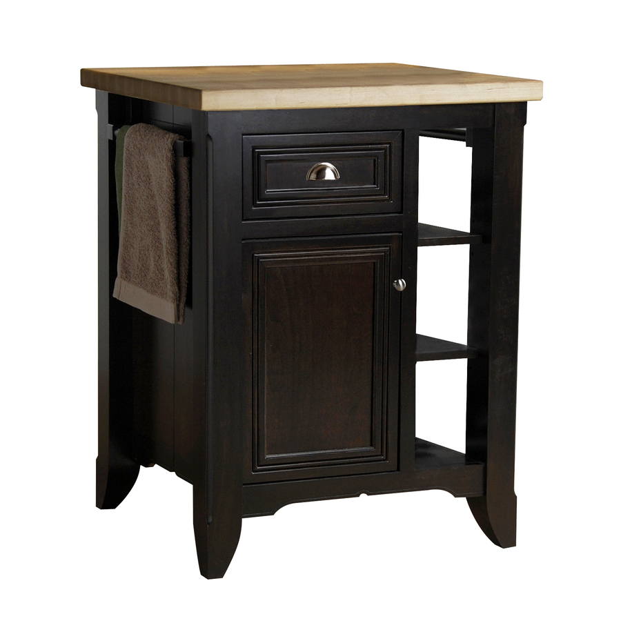 in L x 24 in W x 36 in H Chocolate Brown Kitchen Island at Lowes com