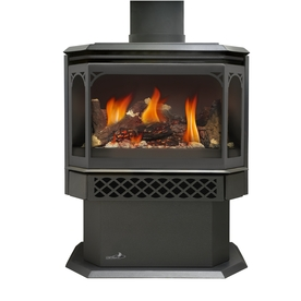 shop continental 22 5 in black direct vent gas fireplace