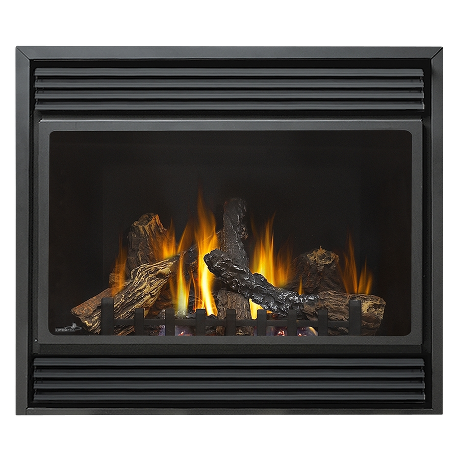 vent black corner natural gas fireplace with thermostat at