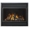37.5-in Direct Vent Black Corner Natural Gas Fireplace