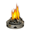 20-in W 60,000-BTU Stainless Steel Propane Gas Fire Pit
