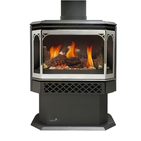 Shop Continental 22 5 In Black Direct Vent Gas Fireplace At