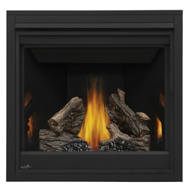 shop continental 35 in direct vent black natural gas