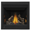 Continental 35-in Direct Vent Black Natural Gas Fireplace