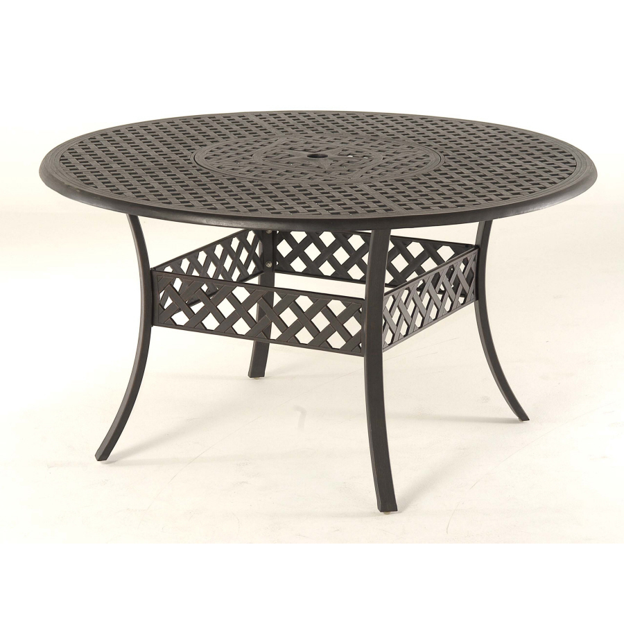 black canyon 54 extruded aluminum round patio dining table at lowes