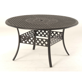 "Garden Treasures Black Canyon 54"" Extruded Aluminum Round Patio Dining Table"