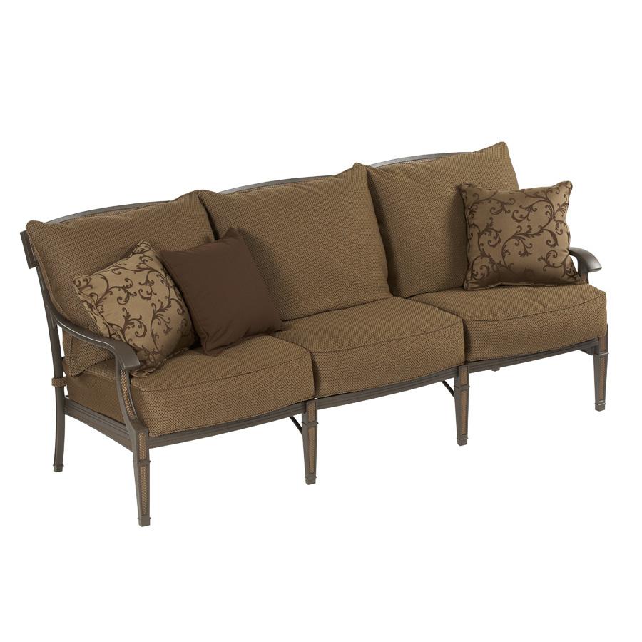 Outdoor Sectional Sofa Lowes: Shop Garden Treasures Herrington Aluminum Patio Sofa With