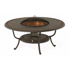 Shop Garden Treasures 48 In W Aged Bronze Powder Coat Aluminum Wood Burning Fire Pit At